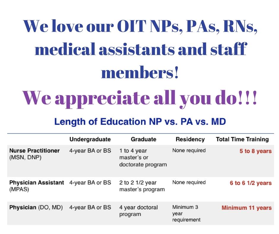 MD v. PA v. NP
